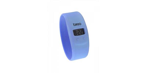 Světle modré silikonové hodinky Breo Skin