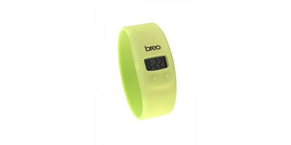 Světle zelené silikonové hodinky Breo Skin