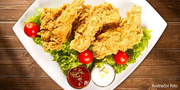 1 nebo 2 saláty s kuřecími stripsy