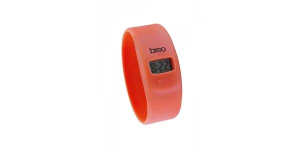 Červené silikonové hodinky Breo Skin