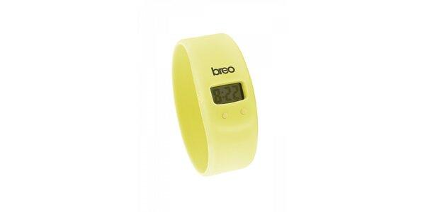 Žluté silikonové hodinky Breo Skin