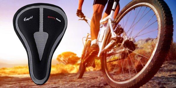 Cyklistický potah na sedlo s paměťovou pěnou