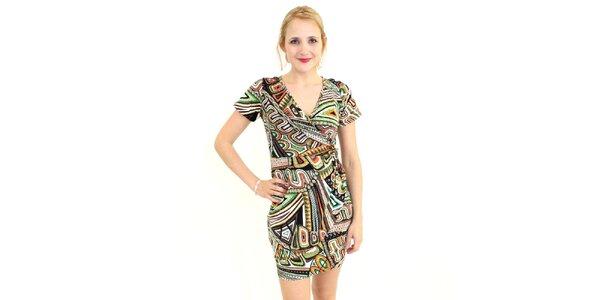 Dámské barevné vzorované šaty Superstition