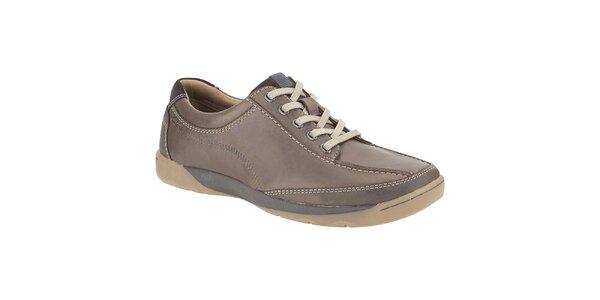 Pánské tmavě hnědé kožené boty Clarks