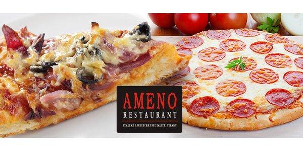 Dvě pizzy dle výběru v Restaurantu Ameno