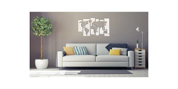Mapa světa z březového dřeva v několika velikostech