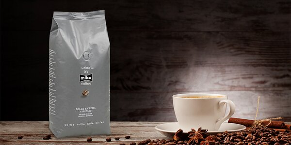 1 kg prémiové kávy Miko Dolce & Crema Espresso