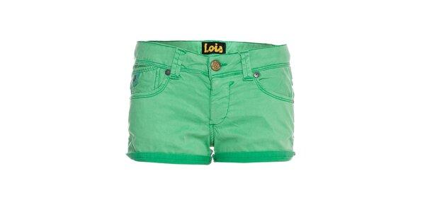 Dámské světle zelené mini šortky Lois