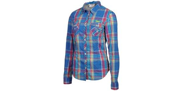 Dámská růžovo-modrá kostkovaná košile Chiemsee