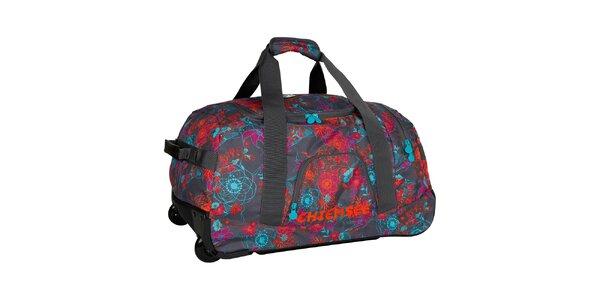 Dámská květovaná cestovní taška na kolečkách Chiemsee