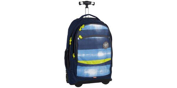 Dámský žluto-modrý cestovní vozík na kolečkách Chiemsee