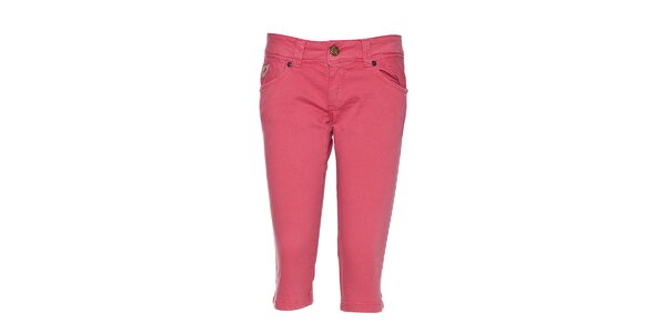 Dámské růžové capri kalhoty Lois