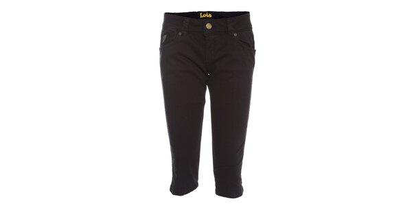 Dámské černé capri kalhoty Lois