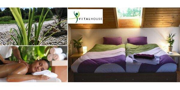 2399 Kč za tři dny relaxace pro DVA ve Vitalhouse. Domácí kuchyně, masáž!