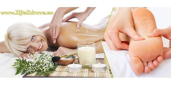 149 Kč za relaxační masáž zad a plosek nohou a harmonizační bylinný rituál!
