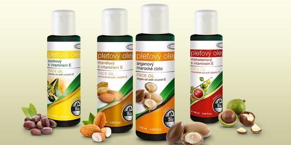 100% přírodní bio oleje Topvet pro péči o pokožku