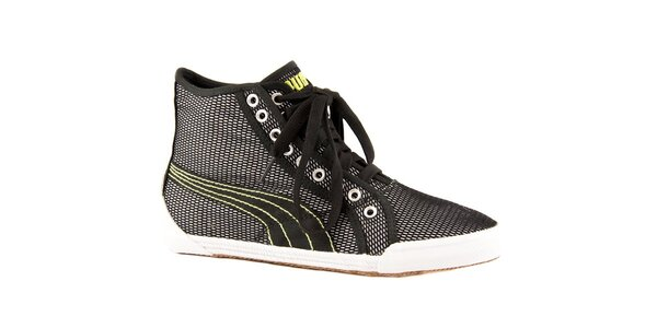 59dee328ba2 Dámské černé síťované tenisky Puma