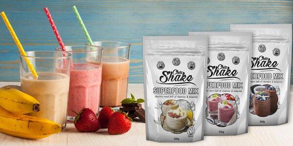 Bezlepkové koktejly Chia Shake plné vitamínů