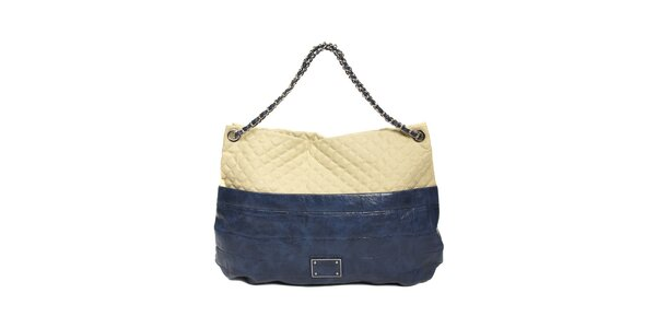 Prošívaná kabelka Siva v modré barvě
