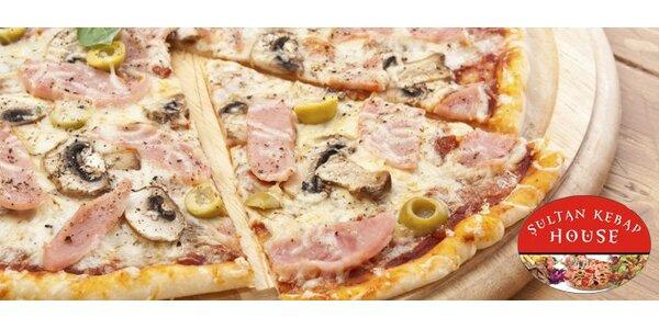 59 Kč za velkou pizzu (průměr 40 cm) dle výběru v Liberci