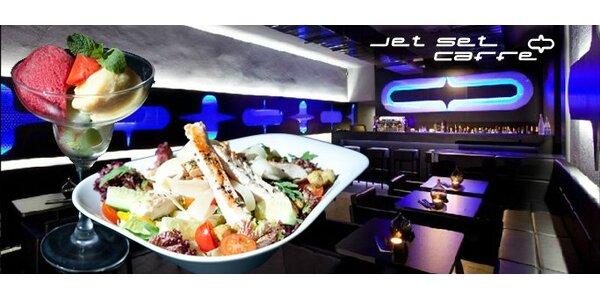 224 Kč za 2x lehký kuřecí salát a 2x ovocný sorbet v Jet Set Caffe!