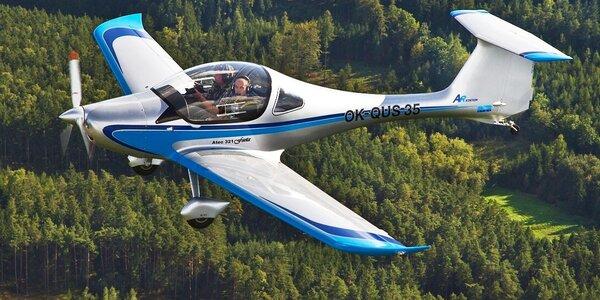 Vyhlídkový let sportovním letounem z letiště Příbram