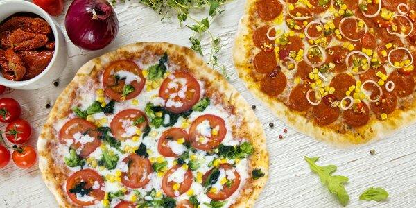 2 křupavé pizzy o průměru 32 cm s sebou