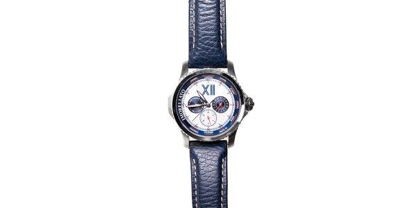 Pánské hodinky Morellato s tmavě modrým koženým páskem