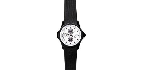 Pánské černobílé hodinky Morellato se silikonovým páskem