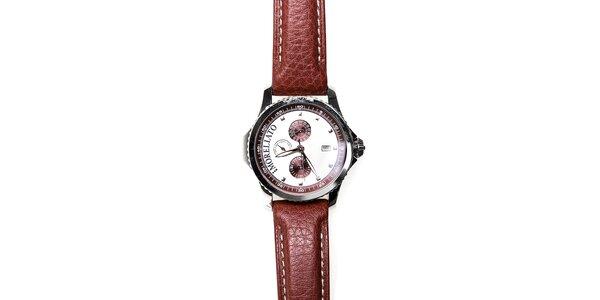 Pánské hodinky Morellato s hnědým koženým páskem
