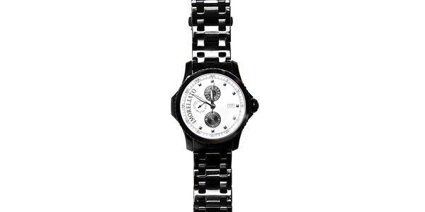 Pánské černé ocelové hodinky Morellato