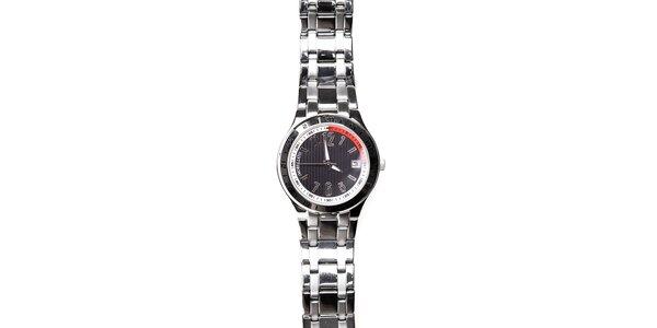 Pánské ocelové hodinky Morellato s černým ciferníkem