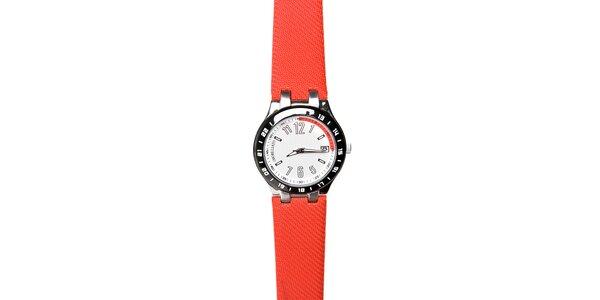 Pánské hodinky Morellato s červeným pryžovým páskem