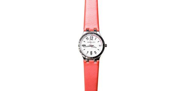 Dámské hodinky Morellato s červeným pryžovým páskem