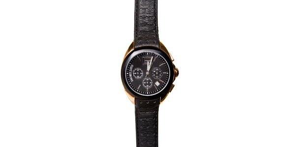 Pánské černo-zlaté hodinky Morellato s černým páskem