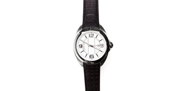 Pánské hodinky Morellato s černým koženým páskem