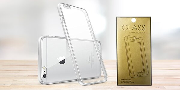 Tvrzené sklo a silikonové pouzdro na 22 telefonů