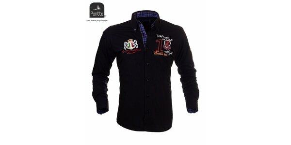 Pánská košile černá Pontto