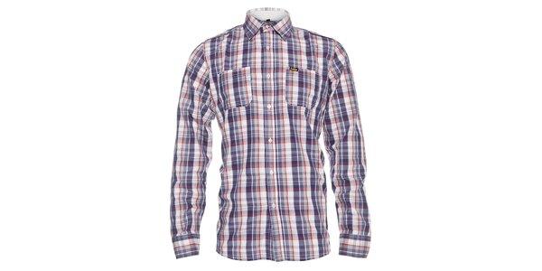 Pánská modro-červená kostkovaná košile Lois