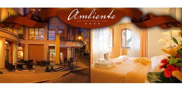3995 Kč za tři dny pro dva v přepychovém hotelu Ambiente v Karlových Varech