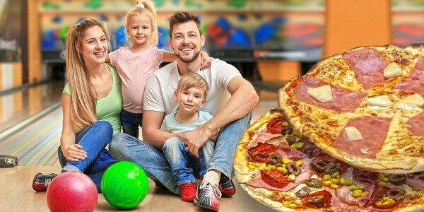 Bowling a dětská pizza ve stylovém podniku