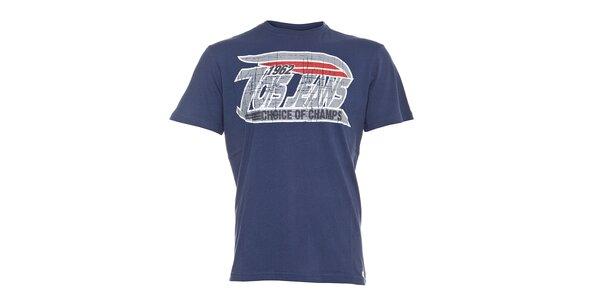 Pánské tmavě modré tričko Lois s šedým vintage potiskem