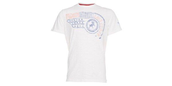 Pánské bílé tričko Lois s barevným potiskem