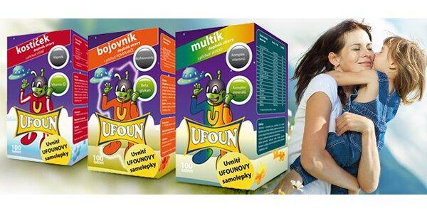 České vitamíny UFOUN pro děti - na výběr 5 variant