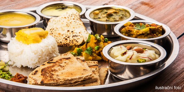 Cokoli z menu nové nepálské a indické restaurace