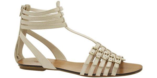Dámské bílé kožené sandále Via Uno