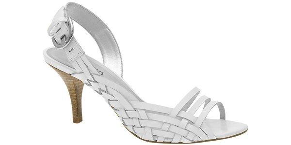 Dámské bílé sandále Via Uno s propletenými pásky