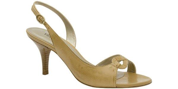 Dámské béžové sandále Via Uno