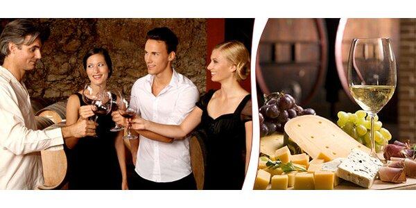 Degustace moravských vín a talíř plný dobrot
