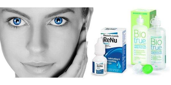 Roztok na kontaktní čočky a zvlhčující oční kapky